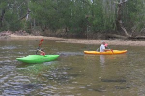 kayaking on emu creek