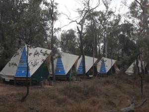 tents at undara volcanic national park