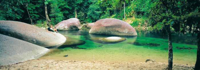 swimming hole at babinda boulders