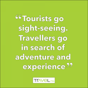 quote about tourists and travellers