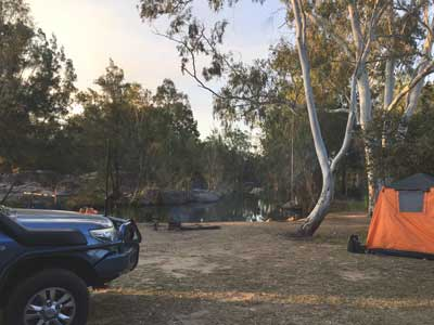 camping at granite gorge