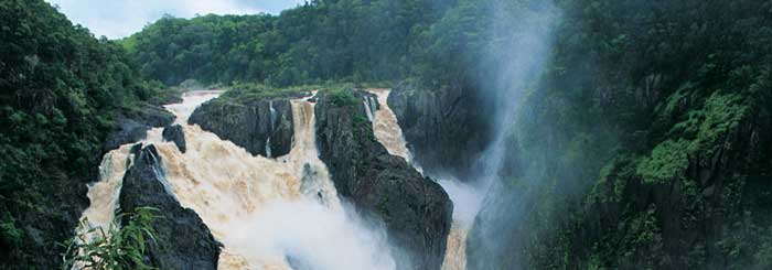 picture, barron falls, wet season, kuranda