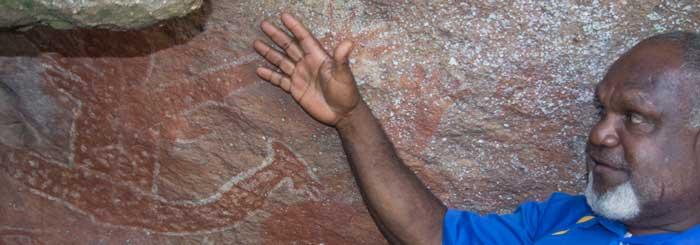 willie gordon, bama way aboriginal cave painting