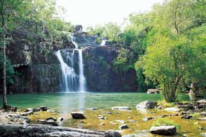 waterhole at cedar creek falls near proserpine