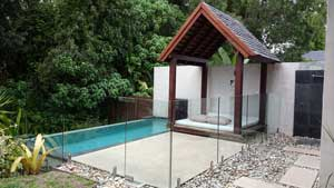 plunge pool at niramaya villas, port douglas