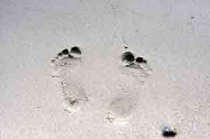 picture of footprints in sand