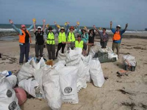 tangaroa blue beach clean ups