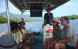 cruising on daintree river train
