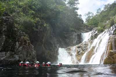 swimming in behana gorge