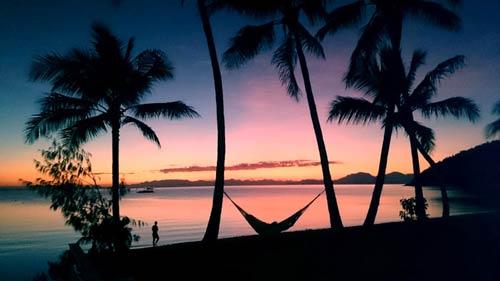 Sunset on Opheus Island