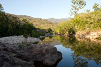 sunrise at big crystal creek paluma