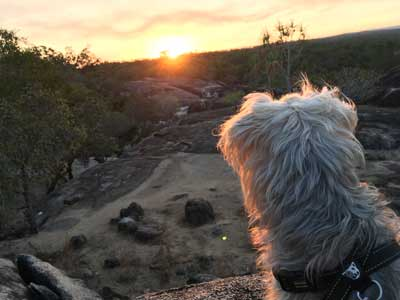sunset at granite gorge