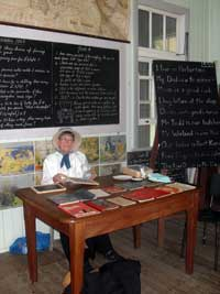 photo of school at historic village herberton
