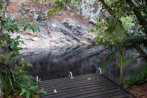 swim hole at jourama falls