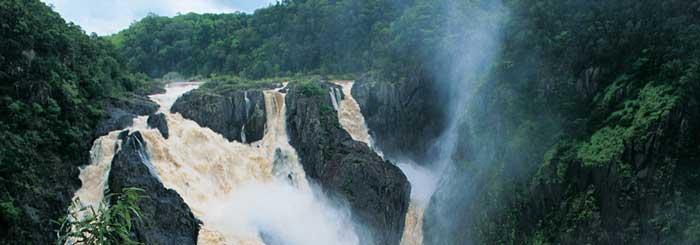 picture, barron falls, wet season, kuranda