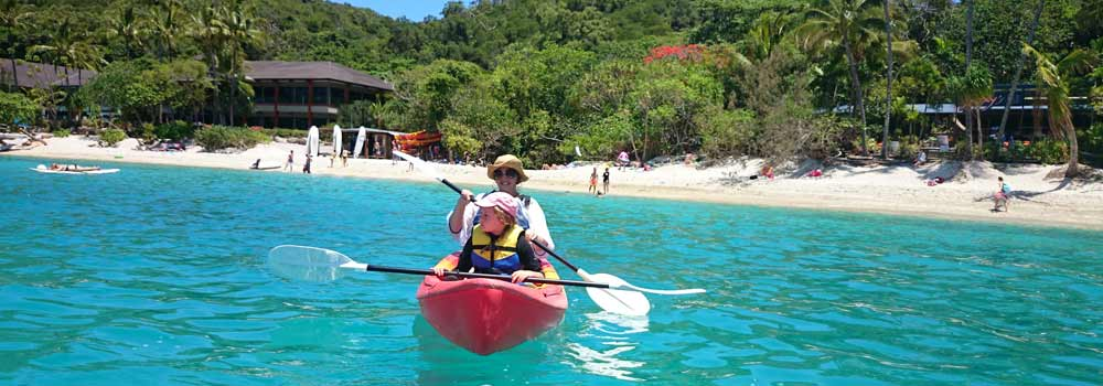 sea kayaking one of things to do on Fitzroy island queensland