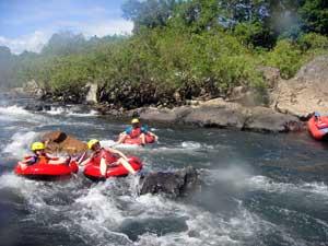 river tube rapids
