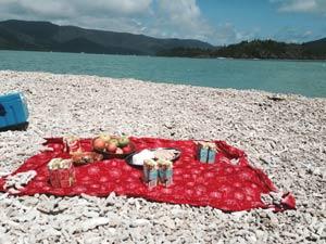 picnic on whiterock, whitsundays