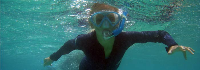 taking children to the great barrier reef