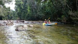 river kayaking with kids