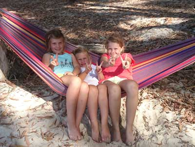 kids in a hammock